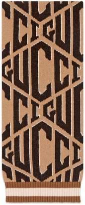 Gucci Game wool jacquard scarf