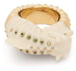 Bibi Van Der Velden - Mammoth Sea Horse 18kt Gold Ring - Womens - White