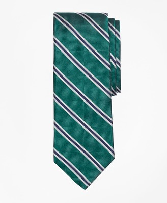 Brooks Brothers Parquet Ground Split Stripe Tie