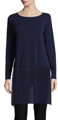 Eileen Fisher Layered Silk Tunic $268 thestylecure.com