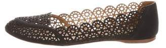 Nina Ricci Leather Laser-Cut Flats