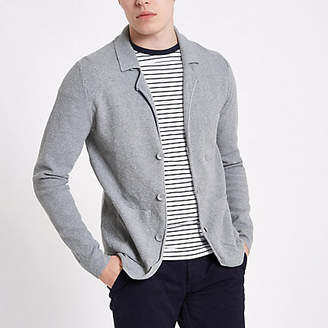 River Island Only and Sons grey knit cardigan