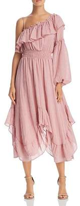 MISA Los Angeles Vola One-Shoulder Dress