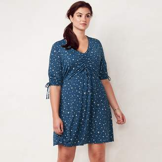 Lauren Conrad Plus Size Print Fit & Flare Dress