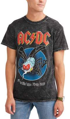 Music ACDC Men's Short Sleeve Graphic Tee, up to size 2XL