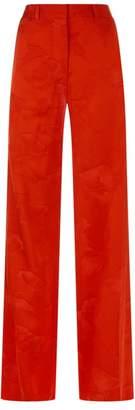 Victoria Beckham Floral Wide-Leg Trousers