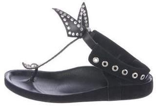 Isabel Marant Suede Grommet Sandals