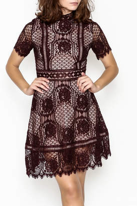 BB Dakota Lace Overlay Dress