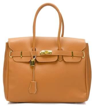 Lisa Minardi Leather Lock & Key Shoulder Bag