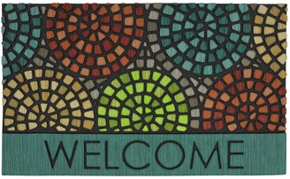 Mohawk Home Tile Spiral Geometric ''Welcome'' Doormat - 18'' x 30''