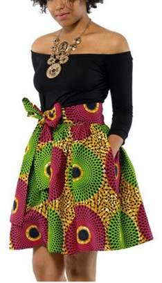 Lovaru High Waist Printing Women Chiffon Skirt