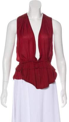 Isabel Marant Sleeveless Plunge Neck Top