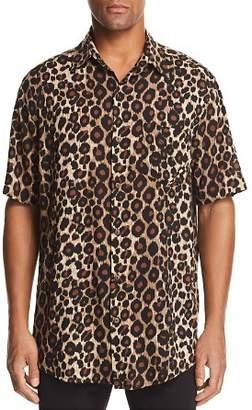 Victoria's Secret The People Stevie Short-Sleeve Leopard-Print Regular Fit Shirt
