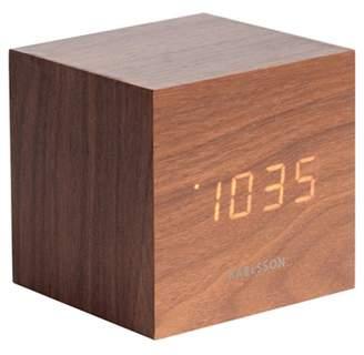 Karlsson Brown Black Wooden Digital Alarm Clock