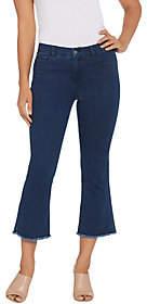 Lisa Rinna Collection Frayed Hem Jeans