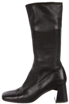 Prada Sport Leather Mid-Calf Boots