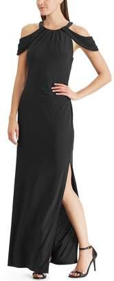 Chaps Women's Cold-Shoulder Evening Dress