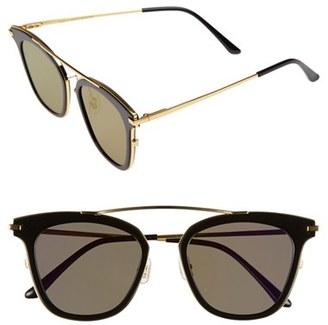 Women's Tome X Gentle Monster Supernature 51Mm Retro Sunglasses - Black $330 thestylecure.com