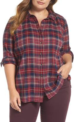 Caslon Plaid Tunic Shirt
