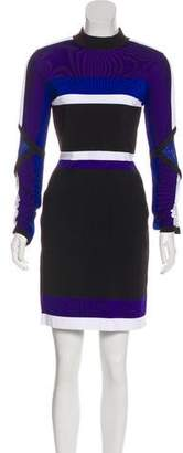 Versace Colorblock Mini Dress