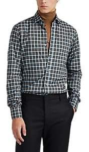 Lanvin Men's Plaid Cotton Poplin Shirt - Green