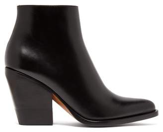 Chloé Western Leather Boots - Womens - Black