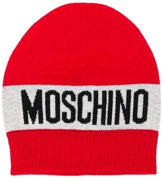 Moschino Kids logo beanie