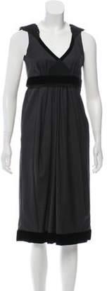 Etro Wool Midi Dress Grey Wool Midi Dress