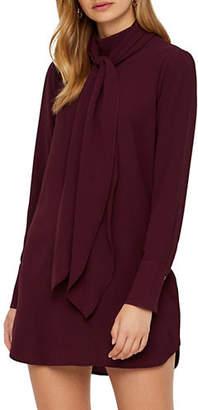 Vero Moda Eclipse High Neck-Tie Shift Dress