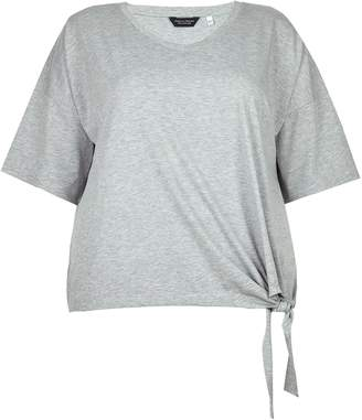 Dorothy Perkins Womens **Dp Curve Grey Side Knot Top