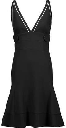 Antonio Berardi Fluted Stretch-Cady Dress