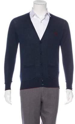 Burberry Wool V-Neck Cardigan