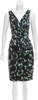 Lela Rose Wool-Blend Knee-Length Dress