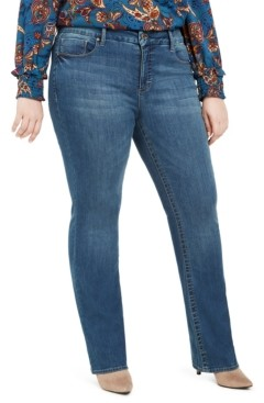 Seven7 Jeans Plus Size Tummyless Slim Bootcut Jeans