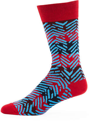 Bugatchi Men's Striped Chevron Socks