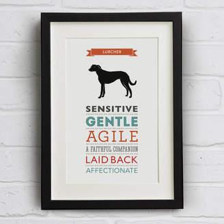 Breed Well Bred Design Lurcher Dog Traits Print