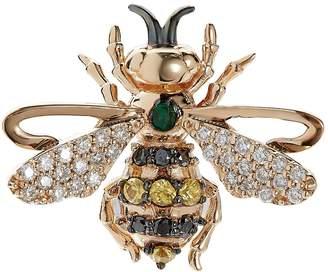 Bee Goddess Emerald Queen Bee Stud Earring