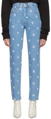 Misbhv Blue Monogram Jeans