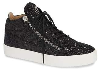 Giuseppe Zanotti Glitter Mid Top Sneaker