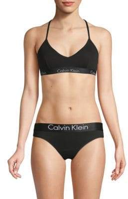 Calvin Klein Motive Stretch-Cotton Bralette