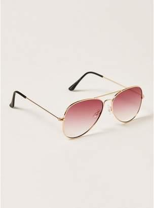Topman Mens Pink Ocean Hunter Aviator Sunglasses
