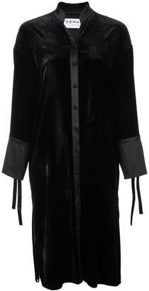 Osman velvet shirt dress