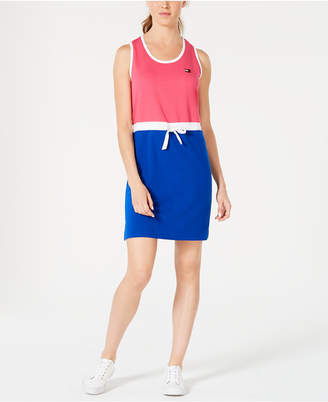 Tommy Hilfiger Sleeveless Drawstring T-Shirt Dress