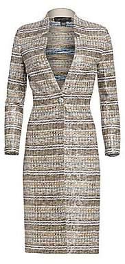 St. John Women's Bobbie Knit Three-Quarter Sleeve Sequin Topper