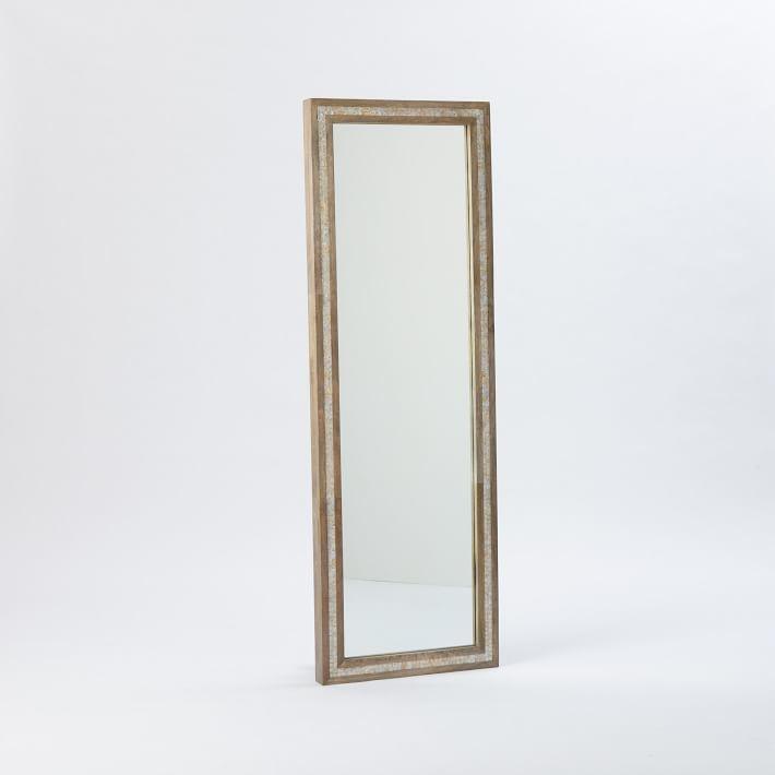 Mother of Pearl Parsons Floor Mirror