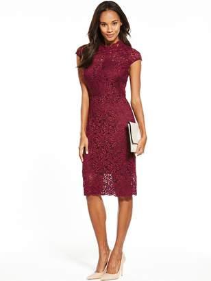 Phase Eight Lace Dress - Claret