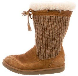 UGG Australia Suburb Crochet Boots $130 thestylecure.com