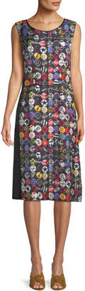 Marc Jacobs Sleeveless A-Line Badges-Print Dress