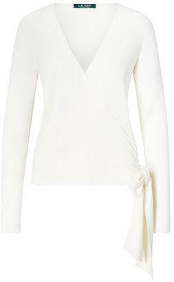 Ralph Lauren Silk-Blend Wrap Sweater $110 thestylecure.com