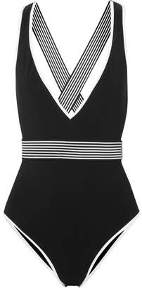 Diane von Furstenberg Belted Swimsuit - Black